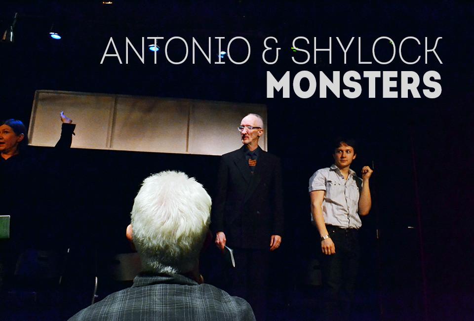 Antonio and Shylock at Stage Left Studio