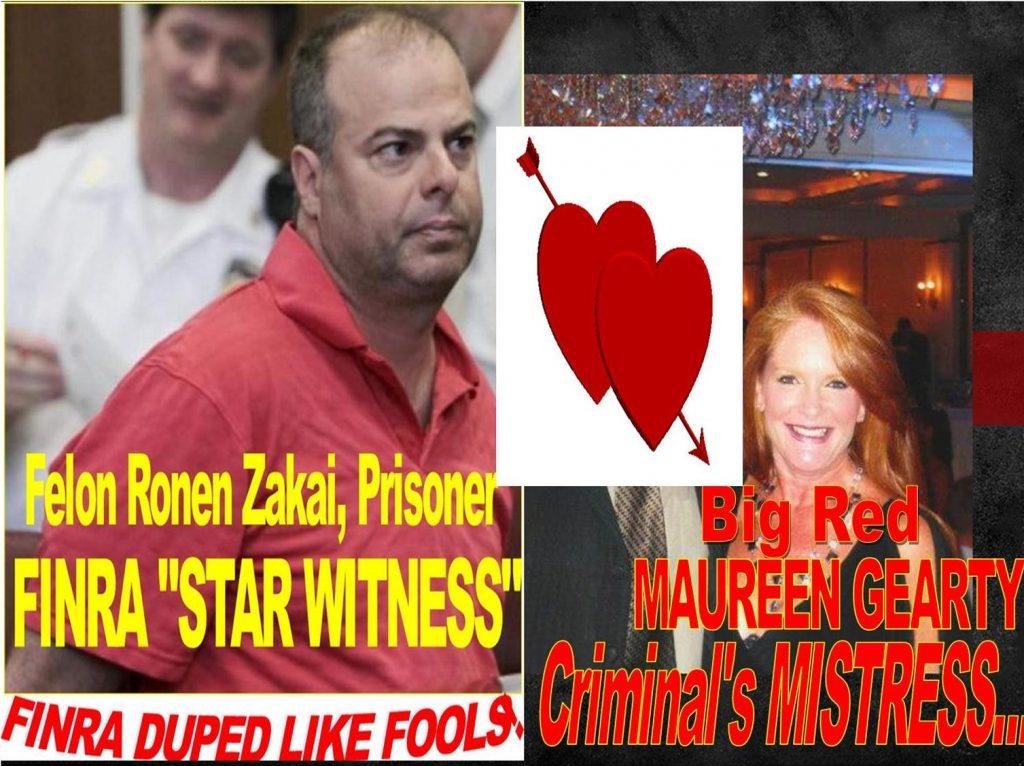 CRIMINAL CONVICTION, FACEBOOK FRAUDSTERS RONEN ZAKAI, MAUREEN GEARTY DUPED FINRA