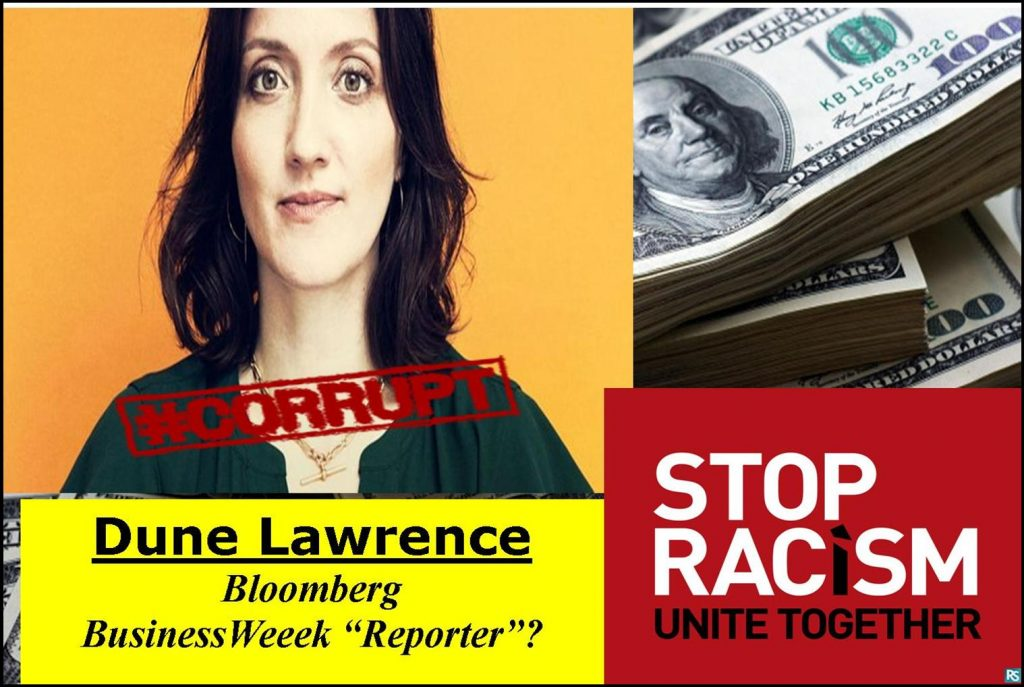 DUNE LAWRENCE, BLOOMBERG BUSINESSWEEK REPORTER RESPONDS TO RACISM CHARGE