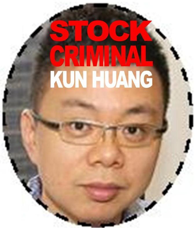 KUN HUANG, FELON, PRISONER, TWO YEARS IN PRISON, STOCK FRAUD, IMPRISONED, JON CARNES, RODDY BOYD CRIME FAMILY