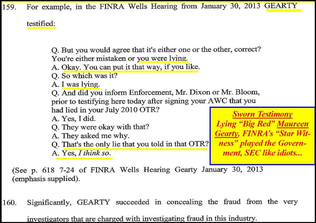 MAUREEN-GEARTY-LYING-FINRA-WITNESS-DUPED-THE-GOVERNMENT-SEC-FBI