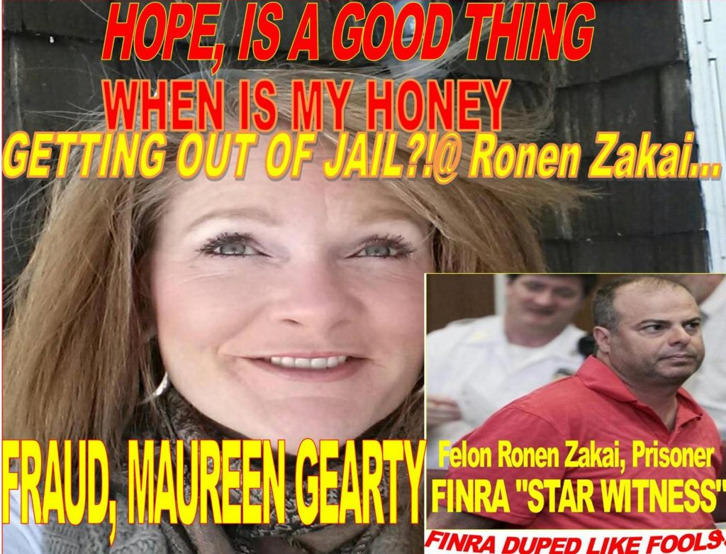 MAUREEN GEARTY, RONEN ZAKAI, MADNESS IN LOVE, HOPE OUT OF PRISON