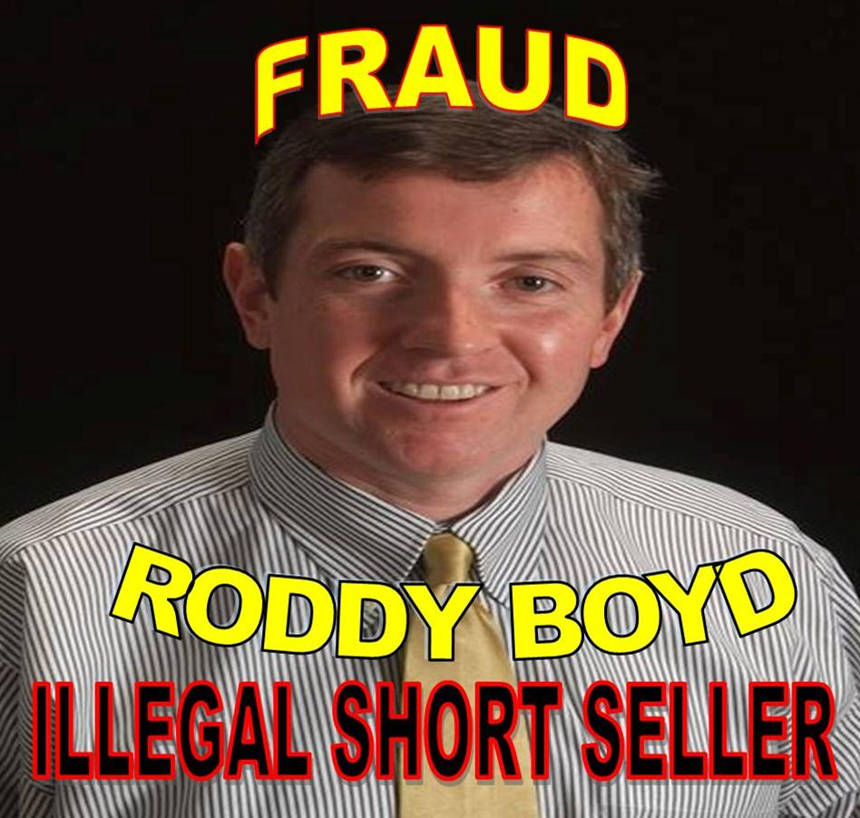 Tabloid Writer Roddy Boyd Bribed to Manipulate Stocks, RODDY BOYD, FRAUD SHORT SELLER CAPTURED, IMPLICATED IN FRAUD, DUPED FINRA, REGULATORS, INDICTED