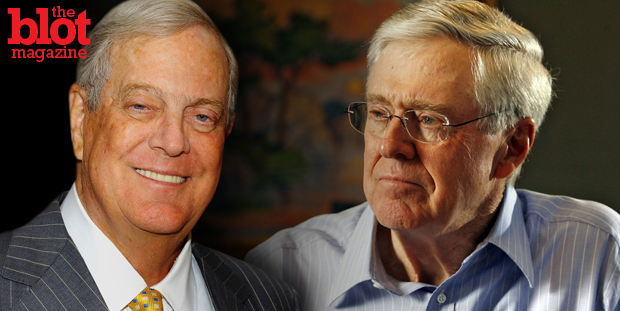 The tycoon Koch brothers and their network of conservative advocacy groups want to spend nearly $1 billion of donors' money on the 2016 elections. (news.yahoo.com photo)