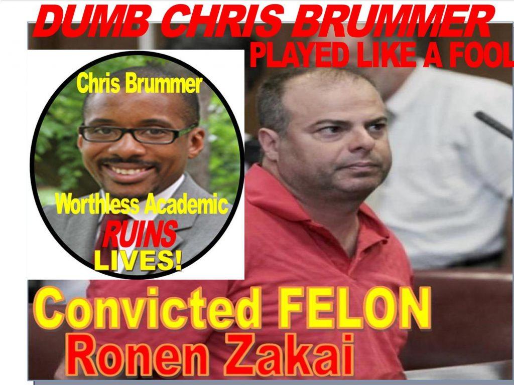 CHRIS BRUMMER, GEORGETOWN PROFESSOR DUPED BY CRIMINAL RONEN ZAKAI