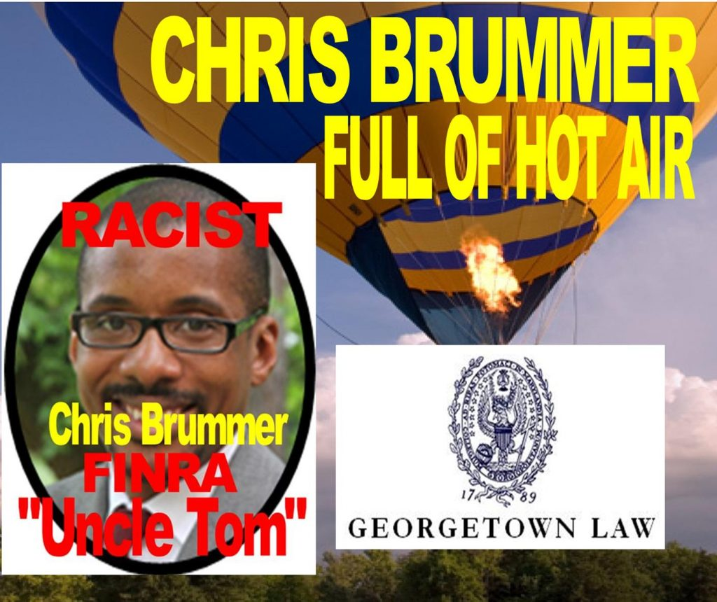GEORGETOWN LAW SCHOOL CHRIS BRUMMER CAUGHT LYING, EXAGGERATED BIOGRAPHY