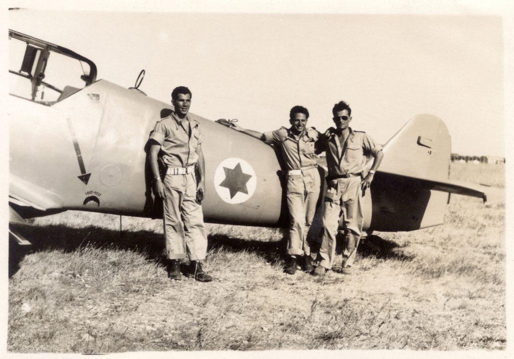 Pilots Lou Lenart, Gideon Lichtman and Modi Alon. (aboveandbeyondthemovie.com photo)