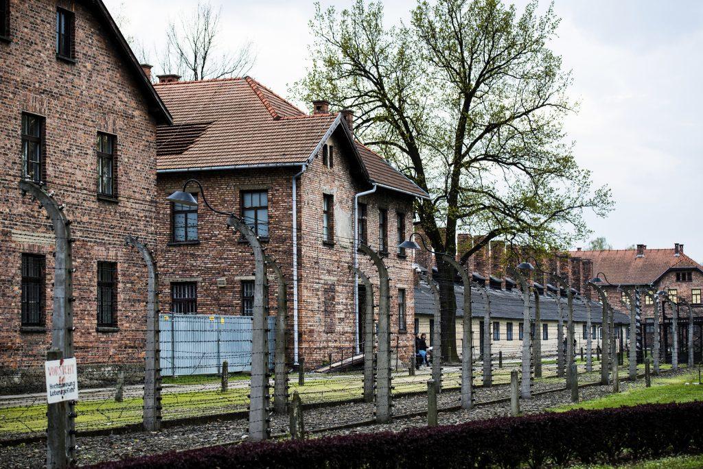 The brick barracks inside Auschwitz concentration camp. (Skrypko Ievgen/Veer photo)