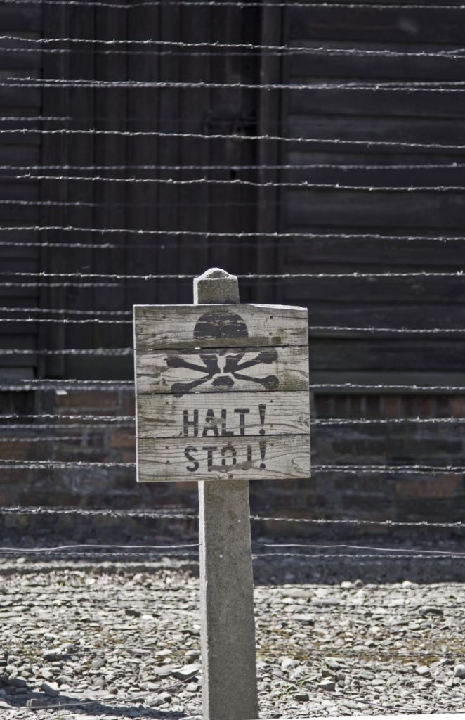 This sign at Auschwitz is a poignant reminder why the resurgence of anti-Semitism in Europe should also halt. (Arsenii Gerasymenko/Veer photo)