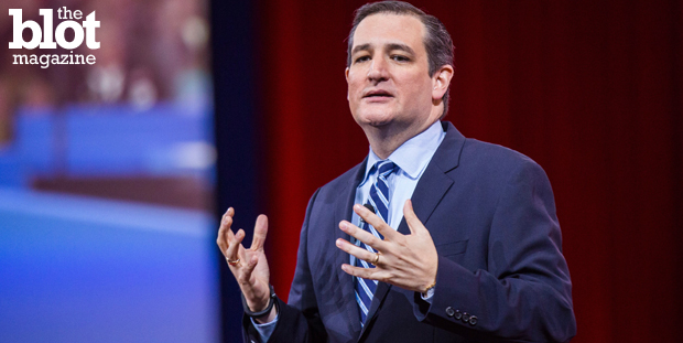As Sen. Ted Cruz officially announced his presidential intentions, the reaction was mostly sarcastic thanks to #TedCruzCampaignSlogans on social media. (© Brooks Kraft/Corbis photo)