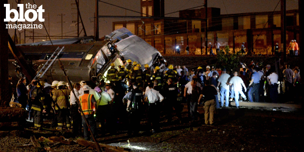 After Tuesday night's terrifying Amtrak derailment near Philadelphia, Congress now more than ever needs to pass Obama's transportation bill, which would increase spending for transit system upkeep and improvements. (© Tom Gralish/Zuma Press/Corbis photo)