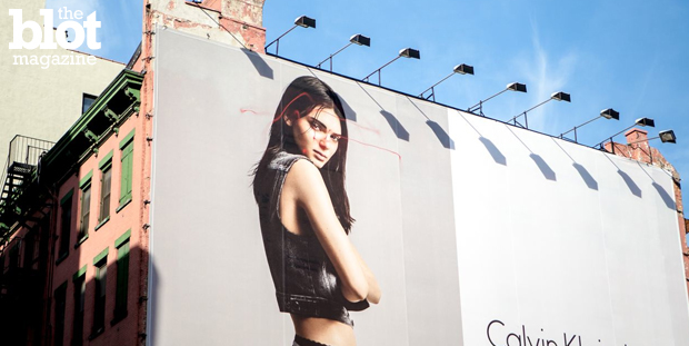 Is graffiti the latest use for drones? As a six-story Calvin Klein ad featuring Kendall Kenner recently got drone-tagged by artist KATSU, it seems so. (Aymann Ismail/ANIMALNewYork photo)