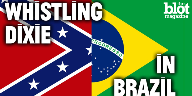 As Southern states debate flying the Confederate flag, a Brazilian town with ties to the Civil War actually celebrates the universal symbol of racism. (YouTube photo)