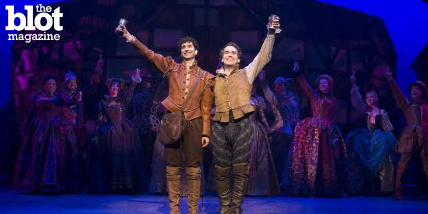 """We talked with John Cariani, left, one of the stars of the Tony-nominated """"Something Rotten!"""" about the musical, his acting career and success as a playwright. (Photo courtesy of 'Something Rotten!')"""