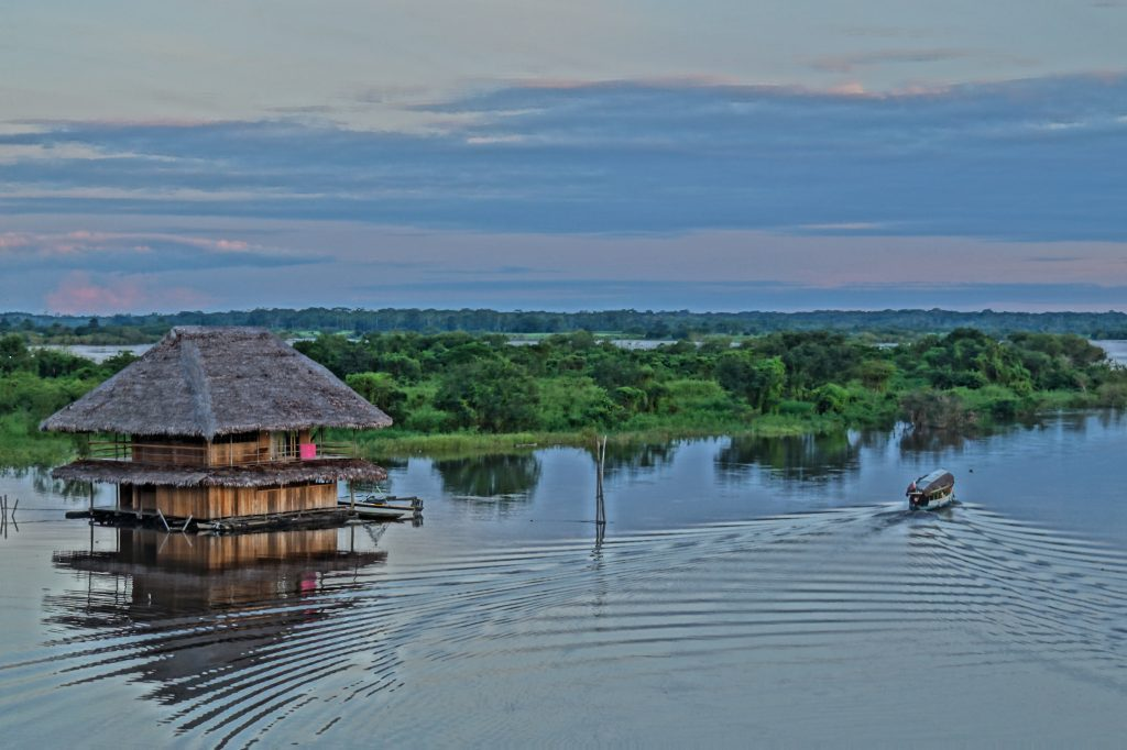 View from the Malecon at Dawn on the Amazon Cafe. (photo by Kirsten Koza)