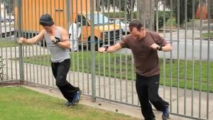running punch legs frame