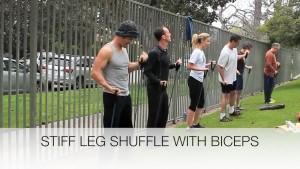 stiff leg shuffle with bicep title