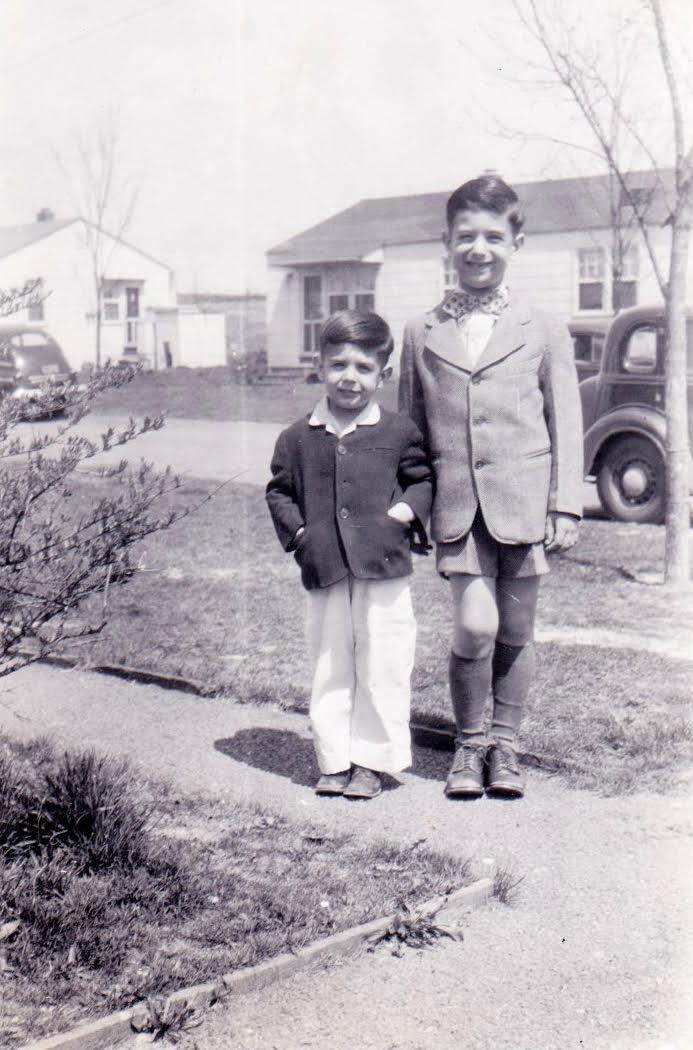 Disco boys: Bob Zappa, left, with older brother Frank. (Photo courtesy Bob Zappa)