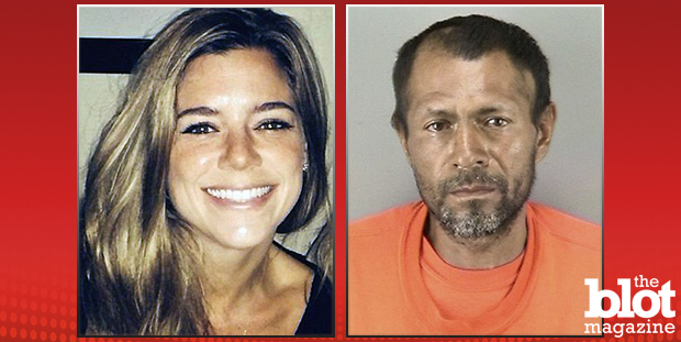 Kathryn Steinle (left), 32, was fatally shot after posing for a photo at Pier 14 in San Francisco last week. Francisco Sanchez (right), 45, has reportedly confessed to the killing. (Photo: Steinle family handout/San Francisco Sheriff's Department)