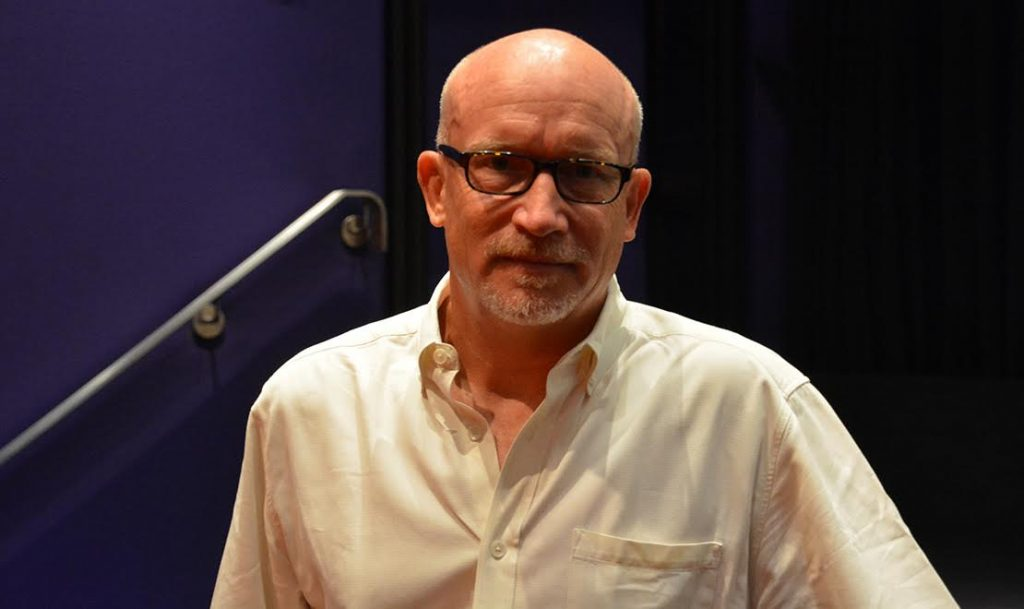 Director Alex Gibney at the Crosby Street Hotel in New York. (Photo by Dorri Olds)