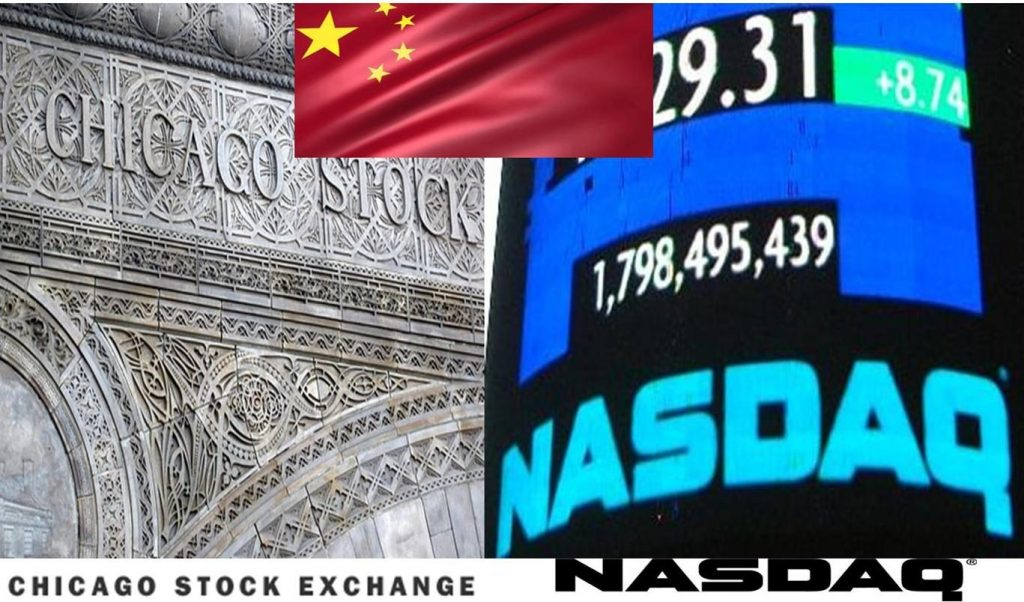 CHICAGO STOCK EXCHANGE-SALE-TO-CHINA-ENDS-NASDAQ-MONOPOLY-ON-LISTINGS