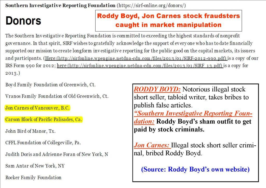 Roddy Boyd, Steve Susswein fraud