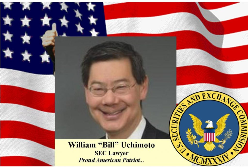 William Uchimoto, Courageous American Lawyer Fights False SEC Charge, Asian Scalp Claim