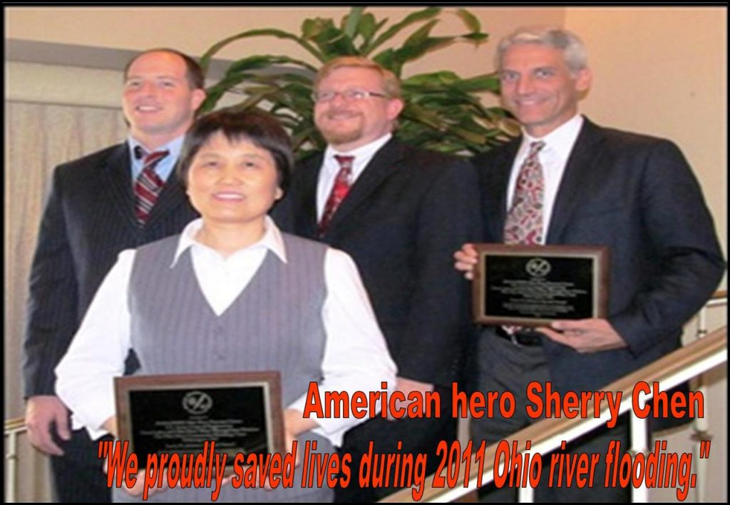SHERRY CHEN, CHINESE AMERICAN HERO, SCIENTIST, SAVE LIVES, AWARD, OHIO FLOODING