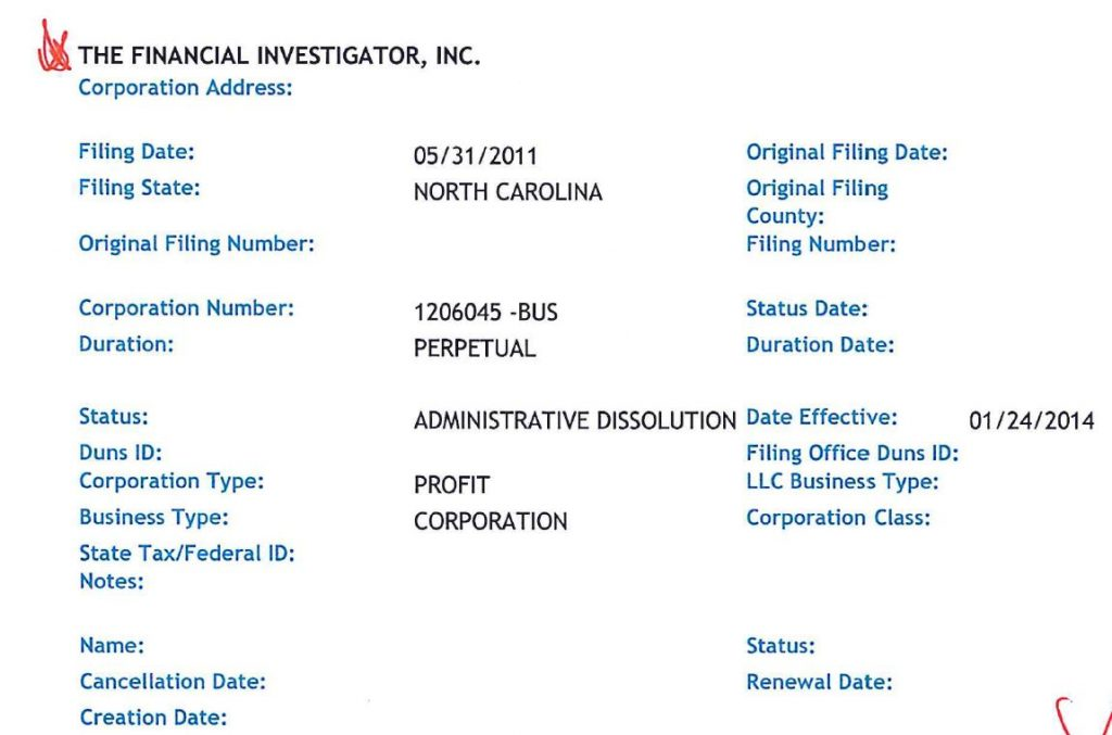 RODDY BOYD STOCK FRAUDSTER CLOSED DOWN SHORT SELLING OUTFIT FINANCIAL INVESTIGATOR