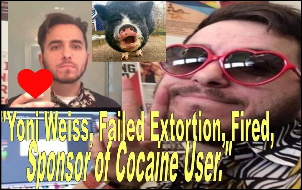 YONI WEISS, GRAPHIC DESIGNER, FAILED EXTORTION, SPONSOR