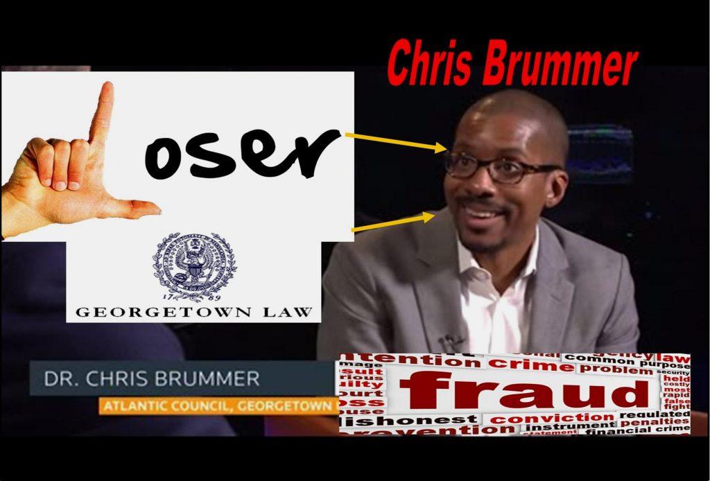 PROFESSOR CHRIS BRUMMER, GEORGETOWN UNIVERSITY LAW SCHOOL FRAUD