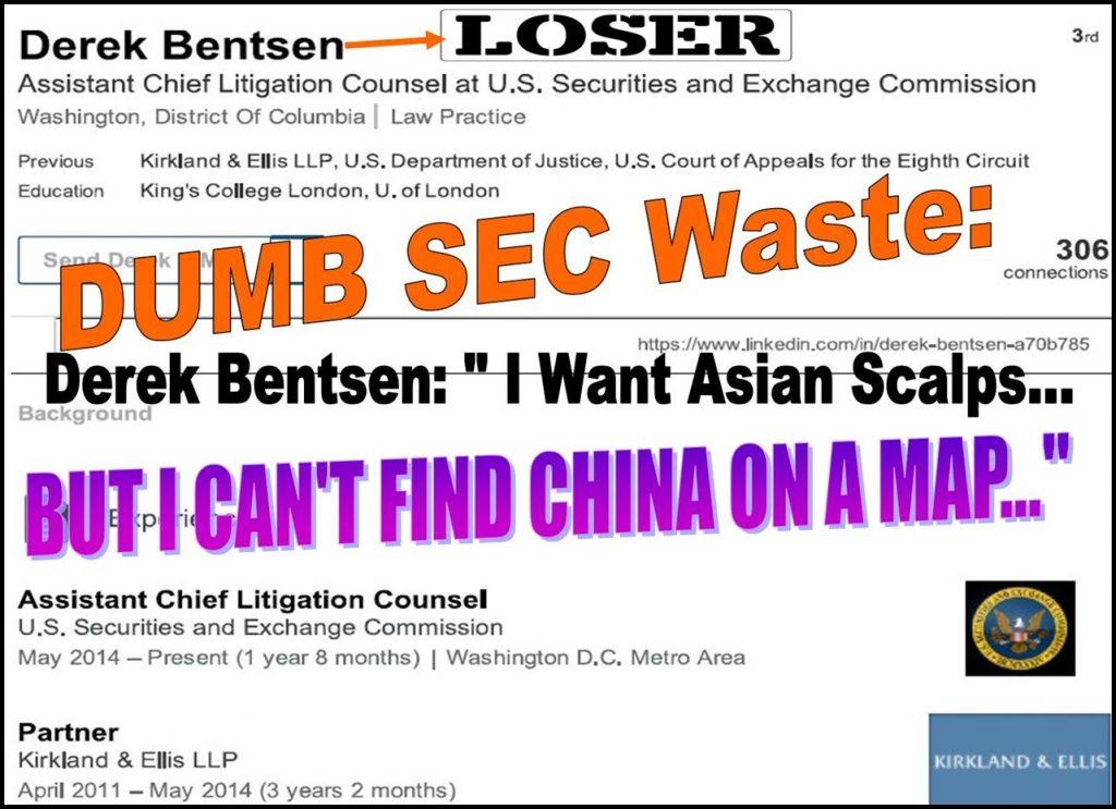 DEREK BENTSEN, SEC LITIGATION COUNSEL, IMPLICATED IN MULTIPLE ABUSES, FRAUD