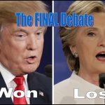 Final Presidential Debate Shocking TheBlot Magazine Survey Results, the Winner Is