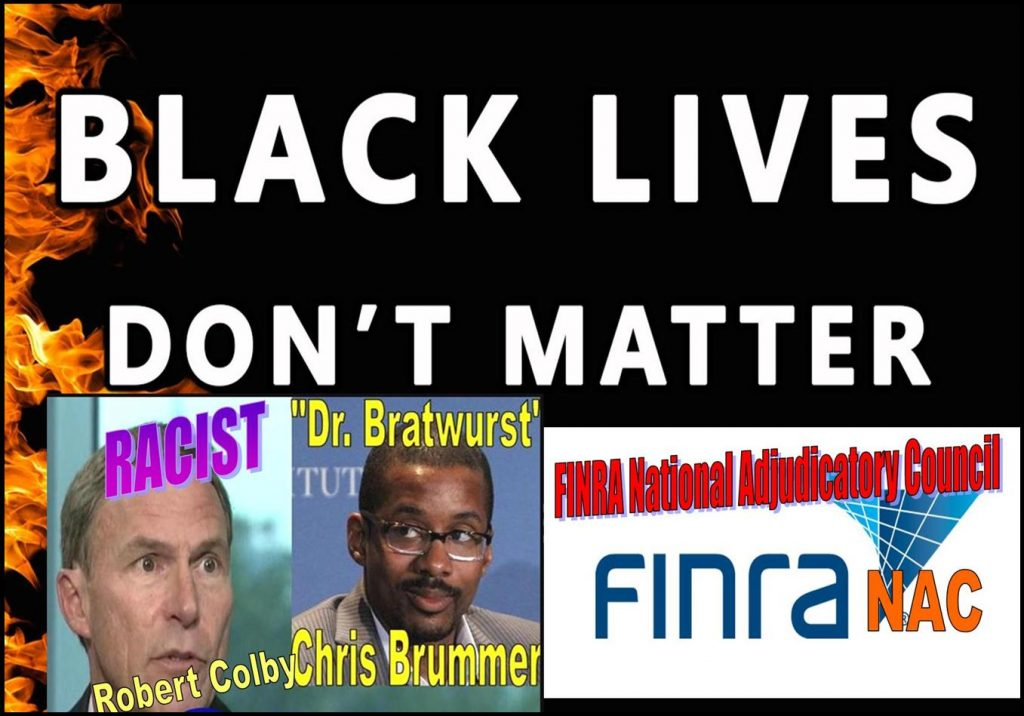FINRA NAC, FINRA NATIONAL ADJUDICATORY COUNCIL, ROBERT COLBY, ALAN LAWHEAD, BLACK LIVES MATTER, TALMAN HARRIS