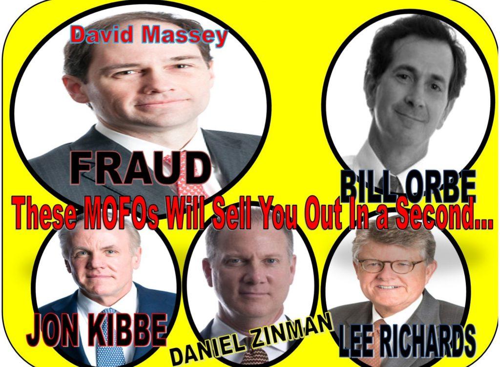 DAVID MASSEY, LEE RICHARDS, BILL ORBE, JON KIBBE, DANIEL ZINMAN, ROWAN GAITHER, RICHARDS KIBBE ORBE, LAWYER, WILLIAM UCHIMOTO, TRACY TIMBERS, DOJ, FRAUD