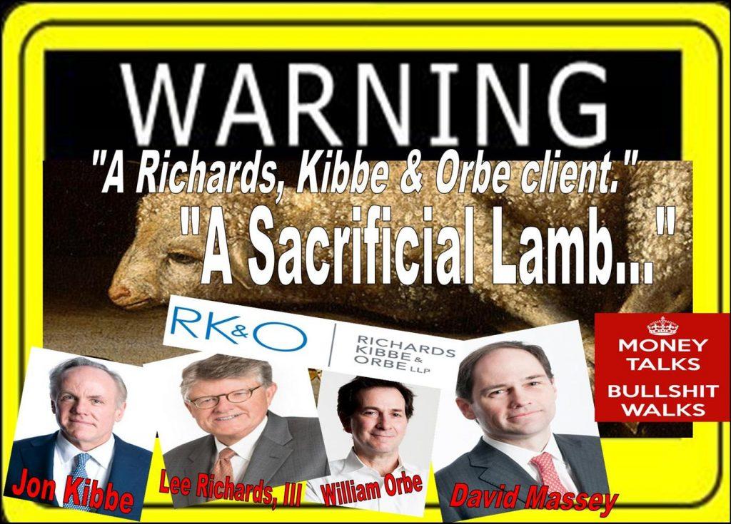 RICHARDS KIBBE ORBE, LEE RICHARDS, Jon Kibbe, William Orbe, DAVID MASSEY, Tracy Timbers, DANIEL ZINMAN, WILLIAM UCHIMOTO, SEC, MELISSA HODGMAN, conflict of interest, lawyer, law firm, fraud