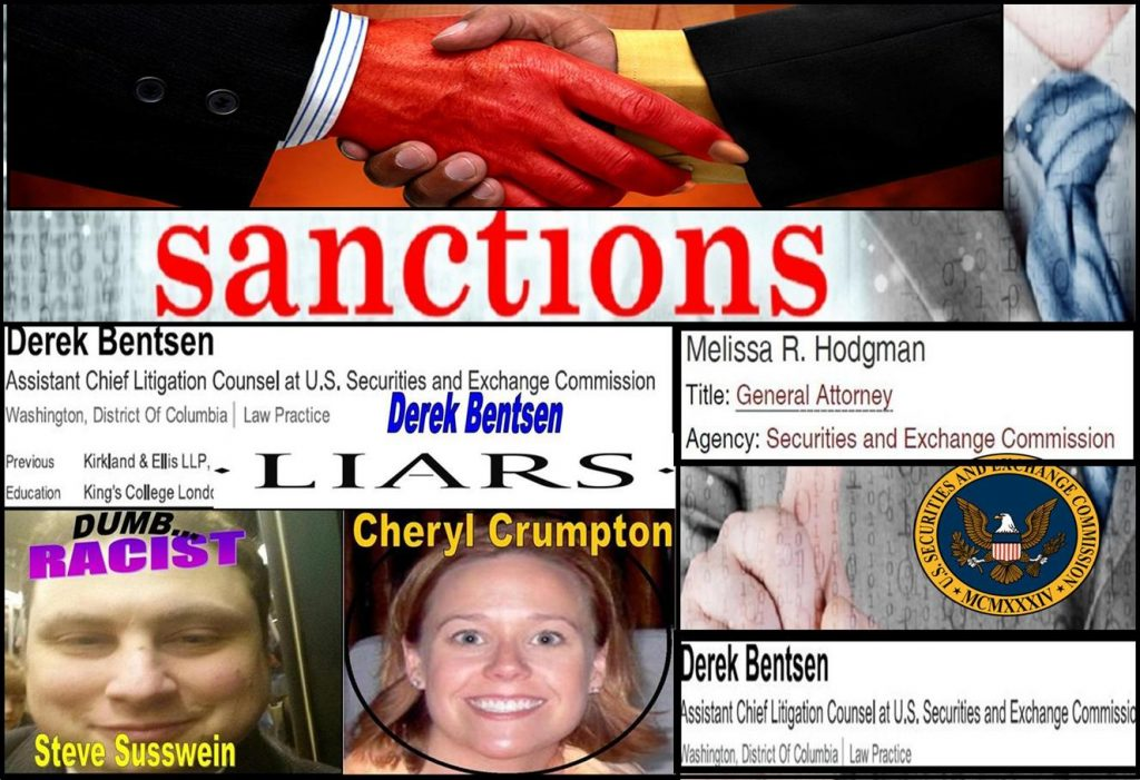 Melissa Hodgman, Derek Bentsen, Joshua Braunstein, Cheryl Crumpton, SEC Enforcement, Rule 11 Sanctions, William Uchimoto, Vindication, David Massey, RKO