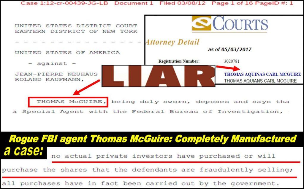 Rogue FBI agent THOMAS MCGUIRE, Thomas Aquinas Carl McGuire, franks hearing, fraud, lies, fake charges, FBI agent MATT KOMAR, AUSA DAVID MASSEY, TRACY TIMBERS