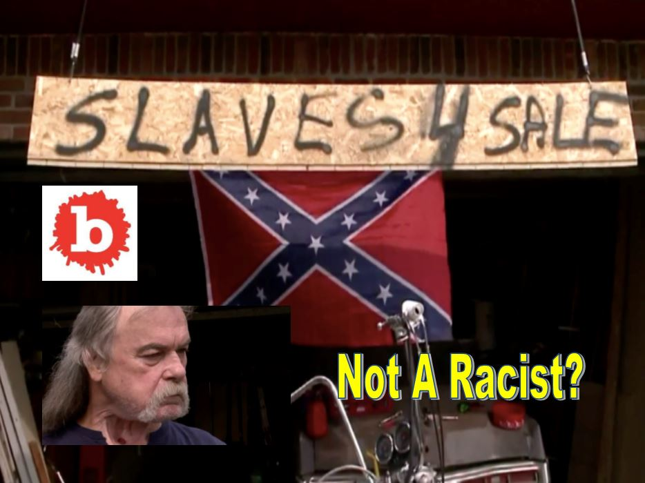 Not a Racist, Man Hangs Confederate Flag, Slaves 4 Sale Sign