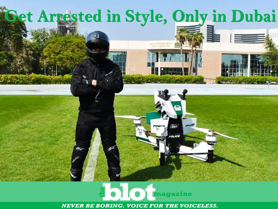 The Dubai Police unveiled the new hoverbikes at the Gulf Information Technology Exposition last week