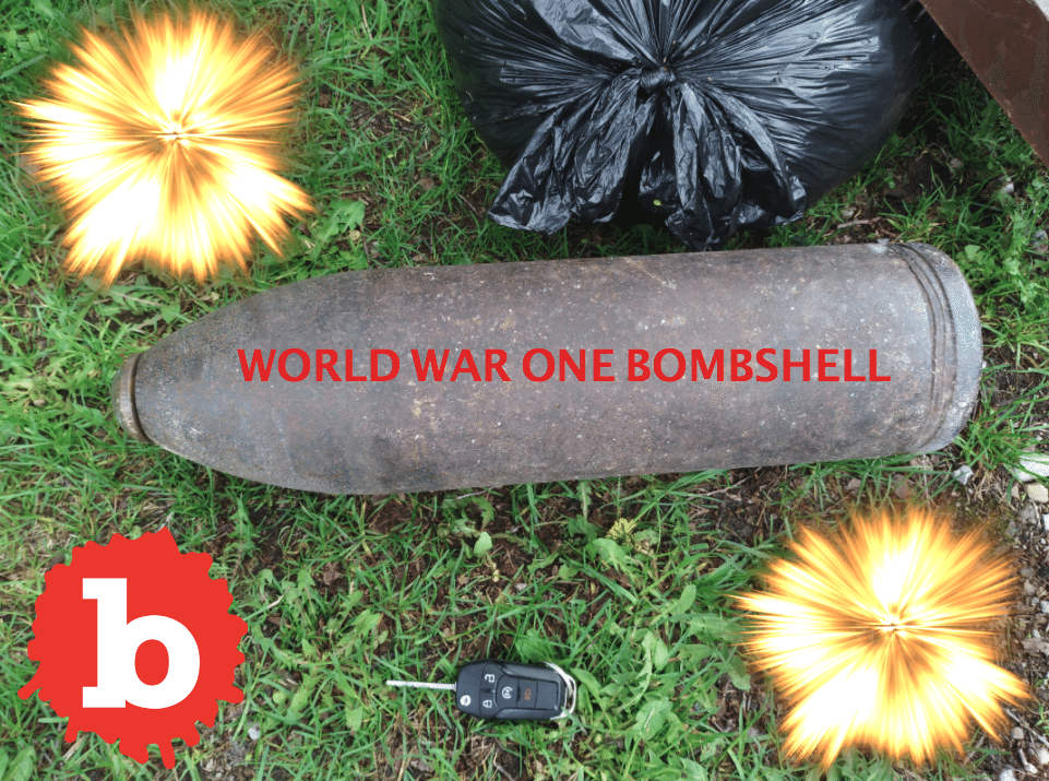 Canadian Idiot Leaves WWI Bomb On Curb With Trash