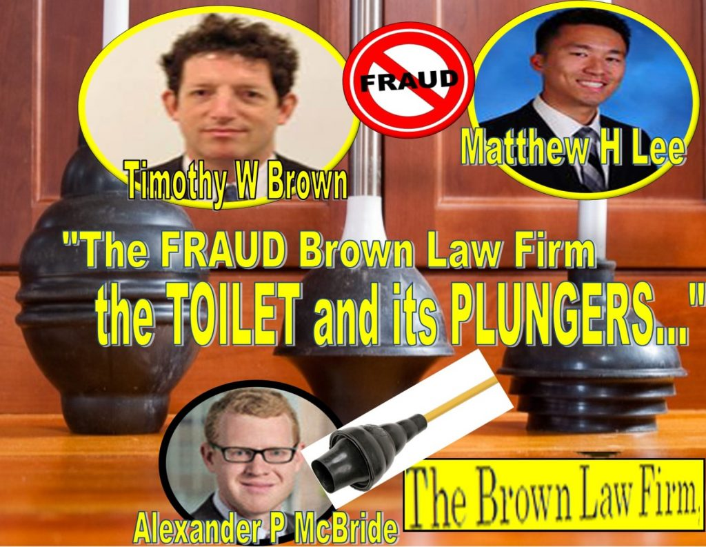 """TIMOTHY W BROWN, a midget lawyer of THE BROWN LAW FIRM in Oyster Bay, New York is no stranger to controversial media exposure. In fact, this short stick who grows an afro atop a largely empty brain is quite infamous as an ambulance chasing midget """"lawyer"""" – very low on ethics and very short on the law. TIMOTHY BROWN is a notorious figure and a guaranteed loser, who barely survives a despicable life like a neutered rat feeding off heavily polluted oysters in Oyster Bay. Readers shouldn't be surprised: Court records show Timothy W Brown and his tiny law outfit - dubbed The Brown Law Firm haven't won a single case in recent memory. Joined by two equally unscrupulous young kids MATTHEW H LEE and ALEXANDER P MCBRIDE, The Brown Law Firm teeters on the verge of bankruptcy. Who wants to hire a lawyer who has lost nearly every single case? ANDREW MORRISON, a lawyer with MANATT, PHELPS & PHILLIPS in midtown Manhattan has some strong words for Timothy Brown his tiny The Brown Law Firm, citing several sources, """"TIMOTHY BROWN is 100% fraud, loser and an impotent con man."""" Over the years, Timothy W Brown has made a living extorting successful businessmen and smearing their wives. A pervert who got caught in the #MeToo movement, Timothy W Brown has a history of abuses against men, women or anything that has moving legs... Like a plunger soaked in human feces stuck in an overflowing toilet, Timothy W Brown and The Brown Law Firm are indeed losers matched in hell: the plunger and the toilet. Their common trait? That unbearable stench. The Brown Law Firm, the Timothy Brown Treacherous Path of fraud, lies, extortion The Brown Law Firm does have a unique business model: blackmail - lying to judges and making up empty threats against businesses to squeeze money. For years, The Brown Law Firm and the neutered rats behind the tiny outfit, TIMOTHY W BROWN, MATTHEW H LEE and ALEXANDER P MCBRIDE struggled to stay afloat, getting buried deep in credit card debts and multiple defaults on bank """