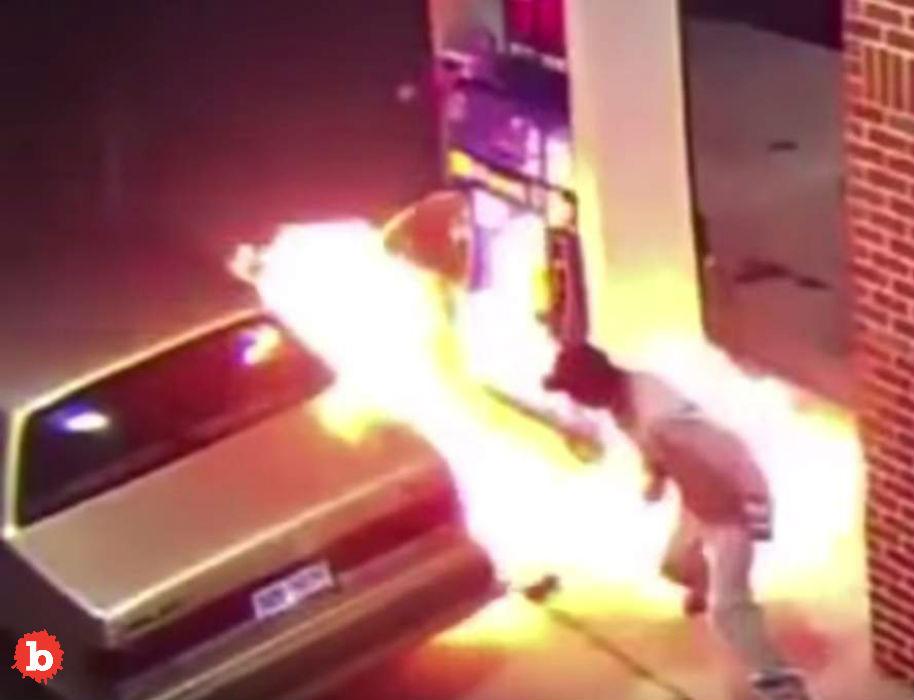 Arachnophobia Causes Man to Burn Down Gas Pump