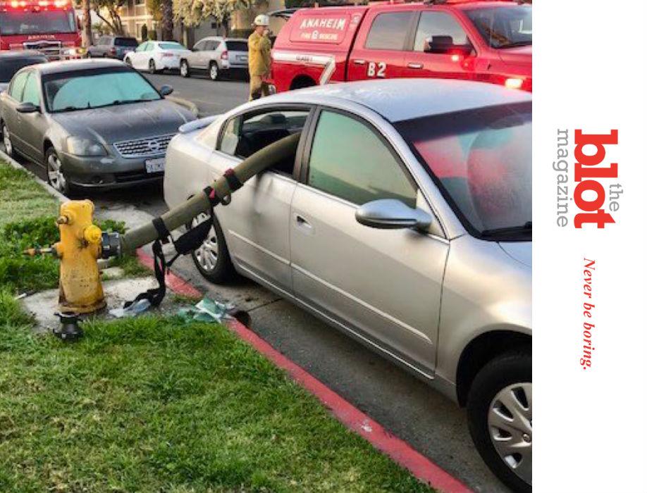 Anaheim Fire Department Shames Hydrant Parkers
