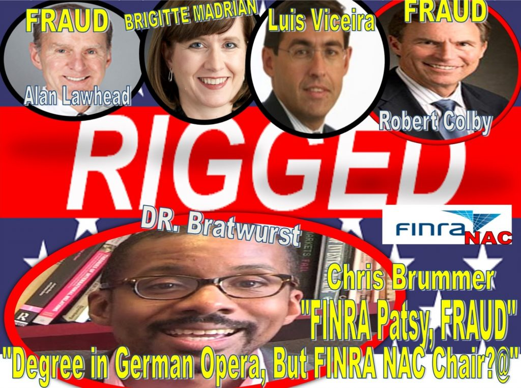 Investigations, Lies, Confessions, FINRA NAC Chris Brummer Admits FINRA Hearings All Rigged, Robert Colby Implicated in Fraud