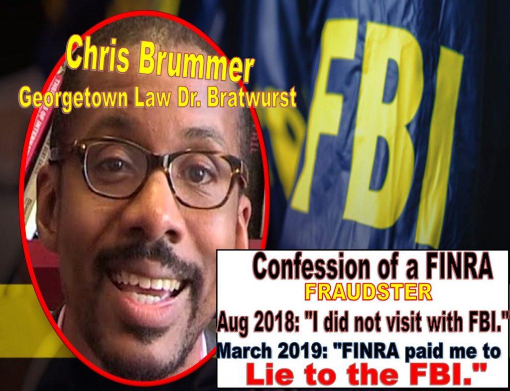Georgetown Law Chris Brummer Deceives Esteemed New York Justice Lucy Billings, False Sworn Affidavit Perjury, Brummer FINRA NAC lies to FBI Got Caught
