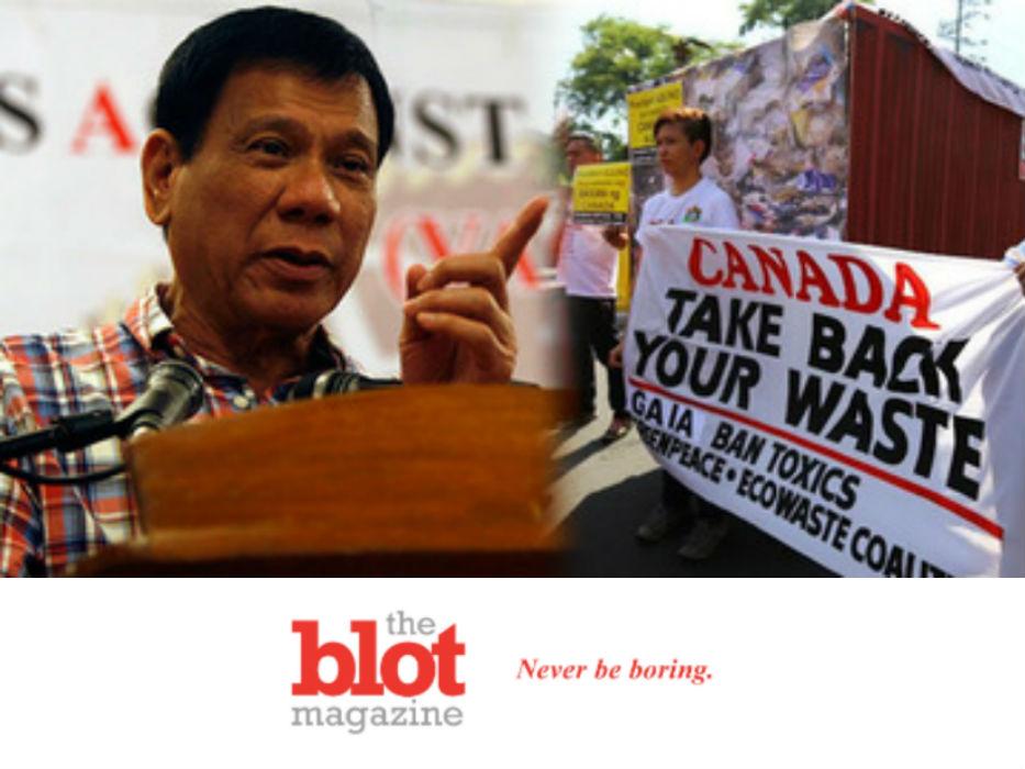 Philippines Duterte Threatens War With Canada Because Trash