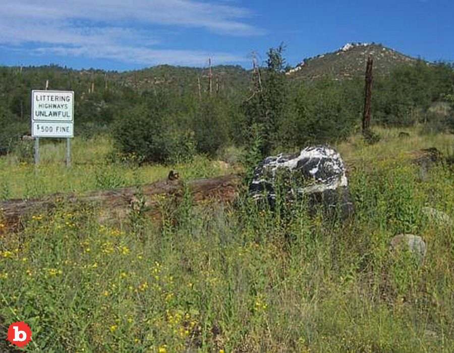 Arizona National Forest's 1 Ton Wizard Rock Goes Missing, Reappears