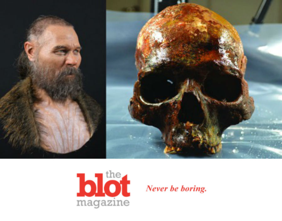 See the Face of Man's Skull, Mounted on a Stake 8,000 Years Ago
