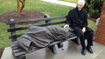 Cops Find That Sleeping Homeless Person on Bench Was Jesus Statue